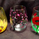 awine glass painting in new jersey