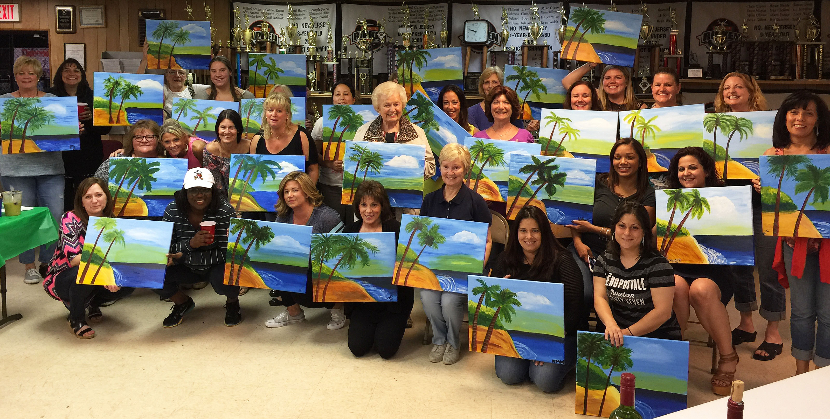 Nj private painting party in new jersey paint fun studio for Private paint party
