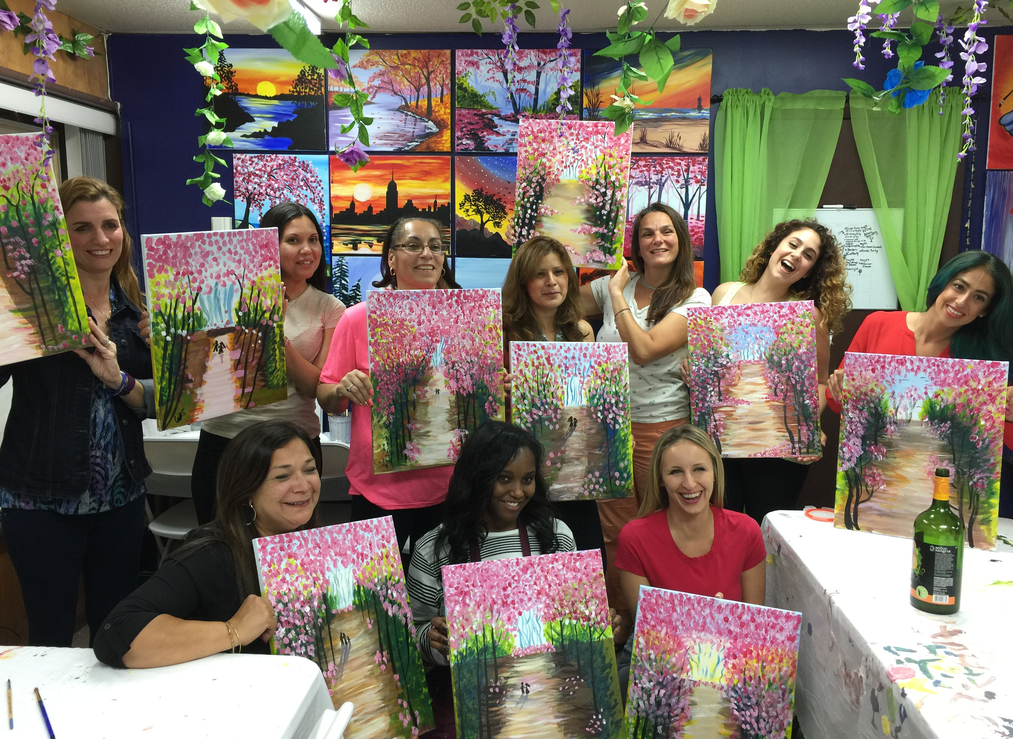 nj private painting party in new jersey paint fun studio